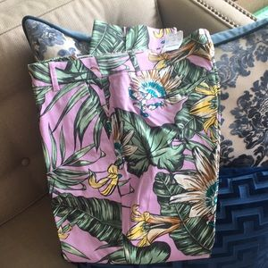 NWT J.Crew Cropped Palms Size 12 Pants